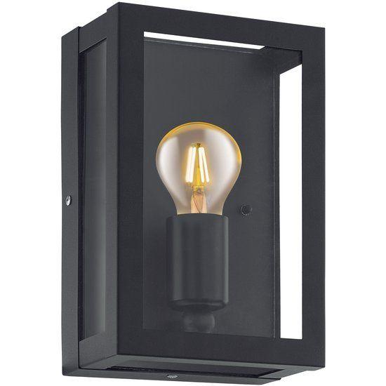 EGLO Vintage Alamonte 1 - Buitenverlichting - Wandlamp - 1 Lichts - Zwart
