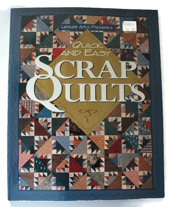 Quilting Pattern Book Quick Easy Scrap Quilts Tutorial DYI How-To Quilt – DUB Team Etsy Shops!