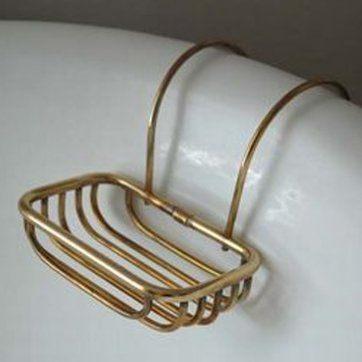 brass soap holder to hang neatly over the side of your roll top bath