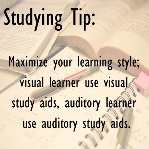 Study Tip Maximize Your Learning Style Visual Learner Use Visual