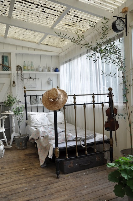 Sweet and simple for the home pinterest porch for Sleeping room design ideas