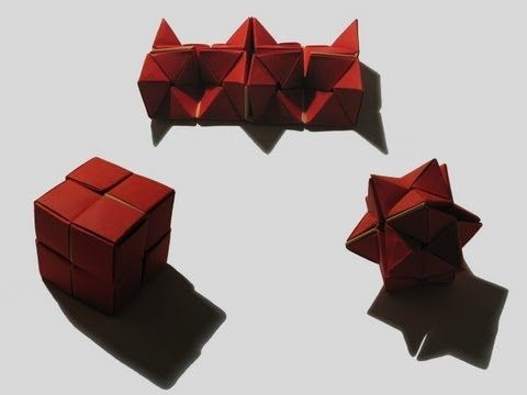 """Origami """"Double Star Flexicube"""" by David Brill (Part 1 of 3)"""