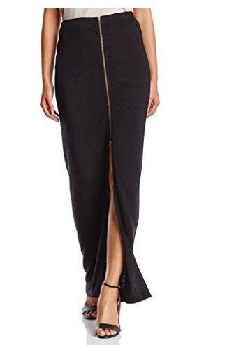 Falda negra larga #Amazonmoda #Modamujer #Moda2017/2018 #Falda #Outfit #fashion #Shopping #Long