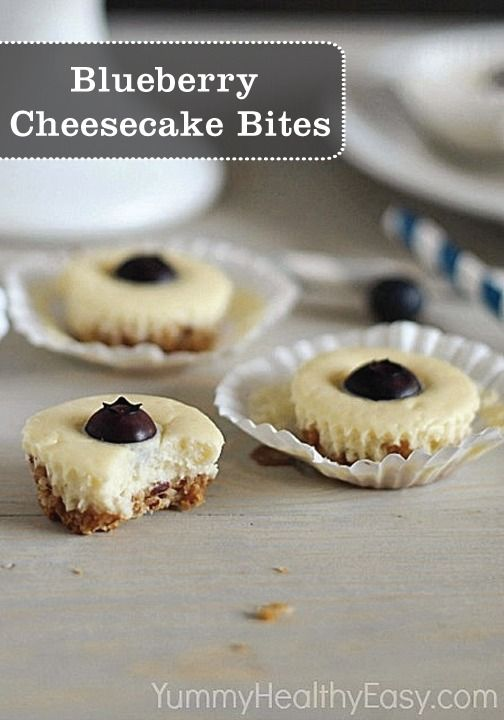 Skinny Blueberry Cheesecake Bites | Recipe | Blueberry ...