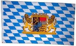 Bayern-Fahne: blau-weiße-Rauten, Wappen, 90 x 150 cm Oktoberfest Deko Wimpel & Fahnen