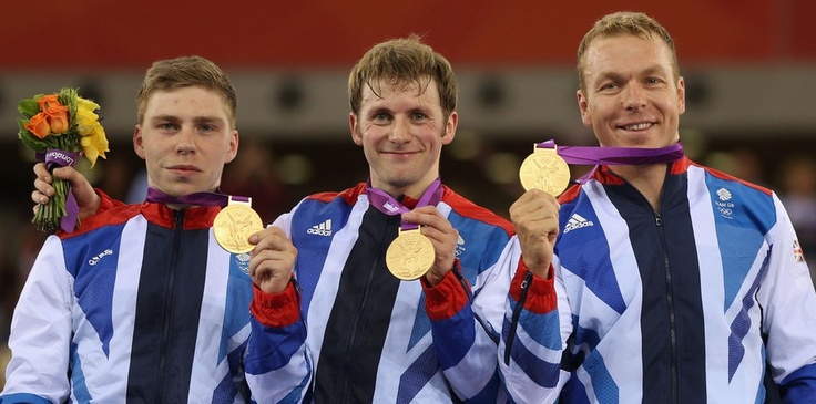 Philip Hindes, Jason Kenny and Chris Hoy kicked off GB's Velodrome success by taking gold in the team sprint track cycling final.