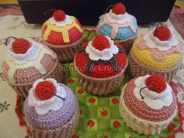 Cupcakes em crochê porta sabonetes Sob encomenda