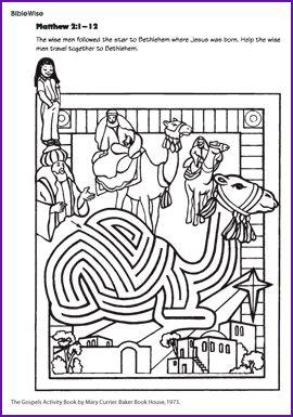 Wise Men Maze Help the wise men through the camel maze to find Jesus.