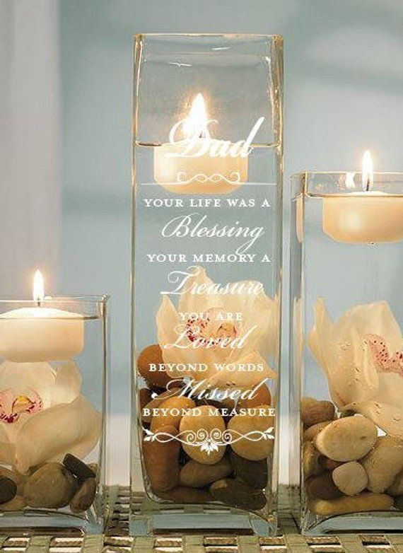 Custom Memorial Candle Holder Memorial Memorial Candle Tribute