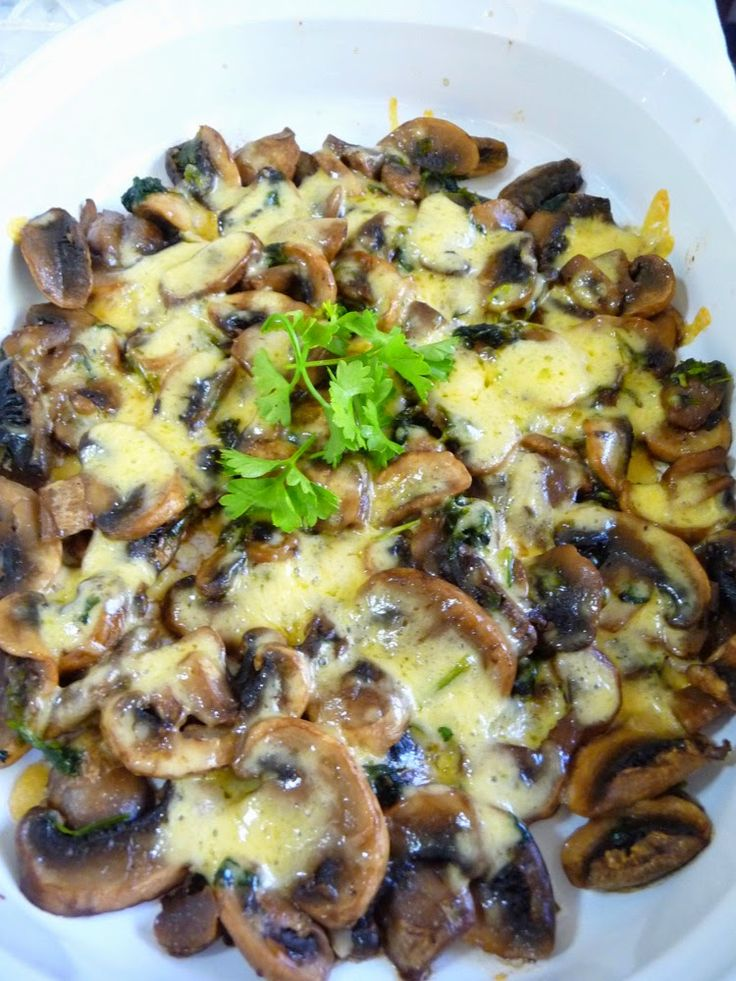 Garlic Parsley Mushrooms