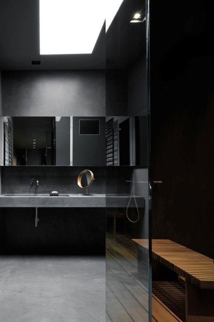 17 meilleures id es propos de salles de bain noires sur for Relooker une salle de bain
