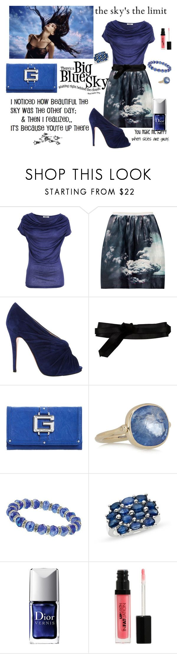 """""""Up in the Air"""" by ghsdrummajor ❤ liked on Polyvore featuring Farhi by Nicole Farhi, Carven, Nexus, Christian Louboutin, Diane Von Furstenberg, G by Guess, Marie Hélène de Taillac, 1928, Ice and Christian Dior"""