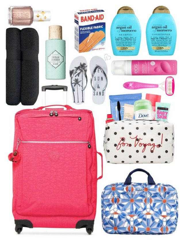"""""""Mexico Mission Trip: Suit case/toiletries"""" by dejonggirls ❤ liked on Polyvore featuring interior, interiors, interior design, home, home decor, interior decorating, Kipling, Tumi, Neutrogena and Maybelline"""