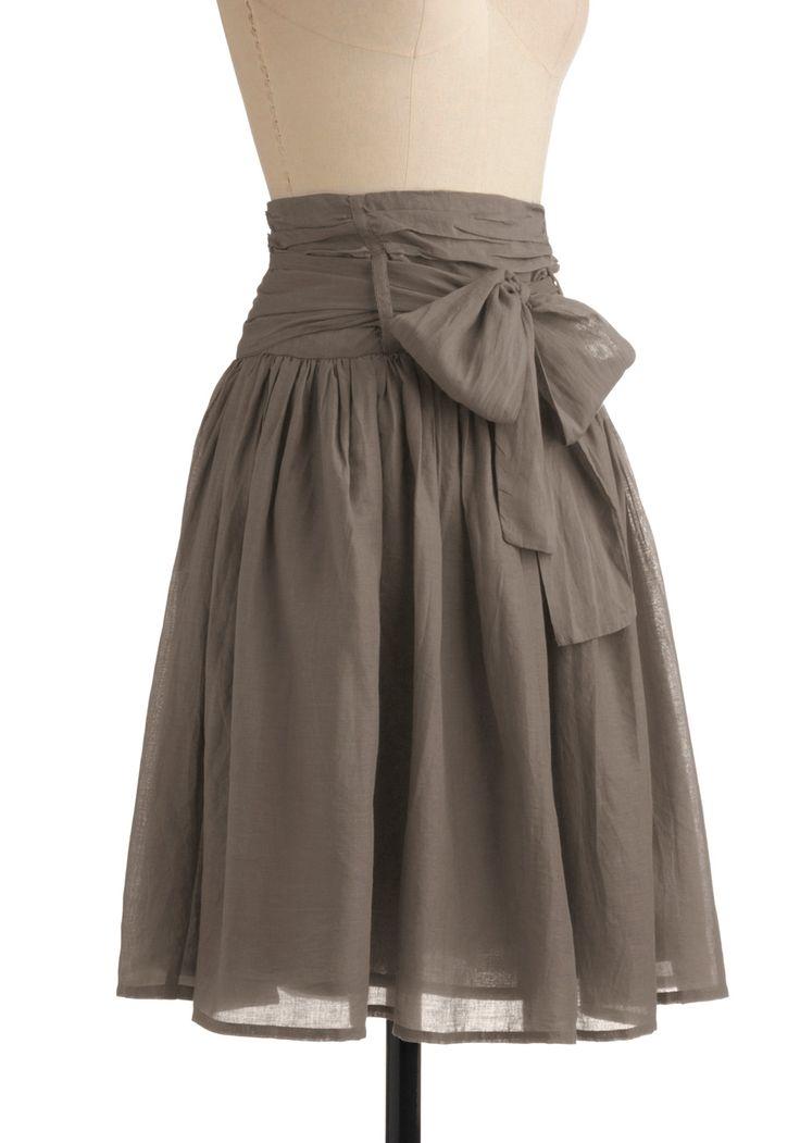 DIY Skirt: Style, Color, Bows Skirts, Gray Skirts, So Pretty, Diy Skirts, Diy Clothing, Pretty Skirts, Cute Skirts