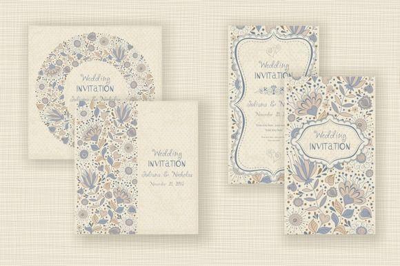 Wedding Invitation set by NataLito on Creative Market