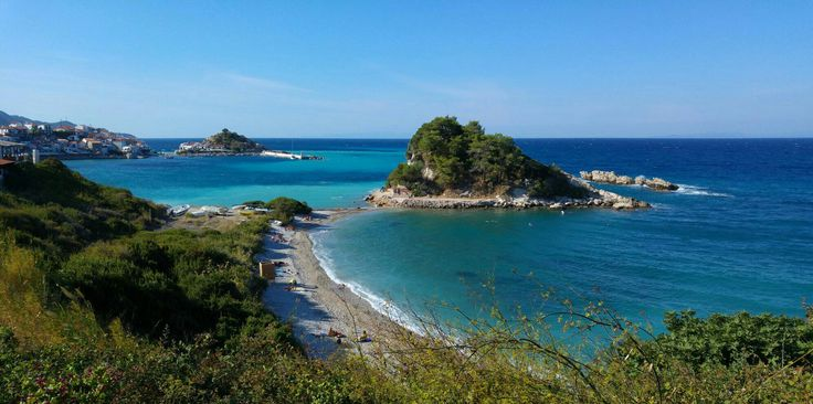 The best beach one of the symbol of island Samos