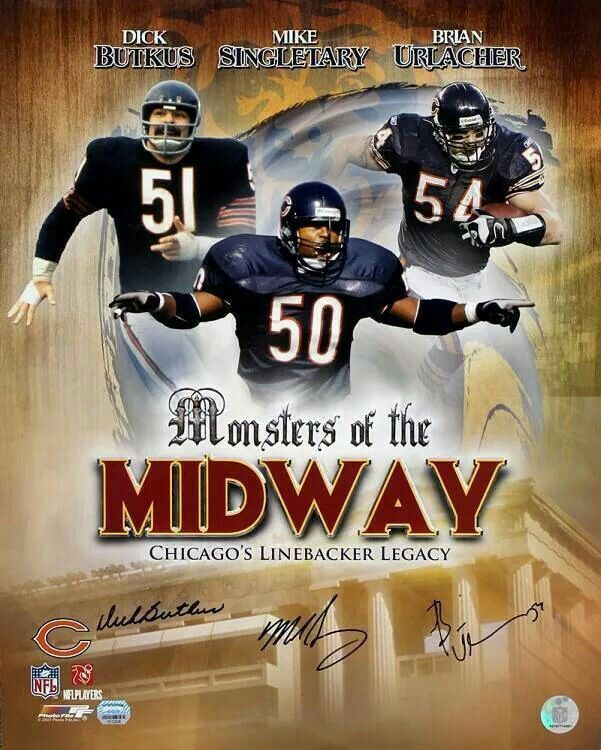 Chicago Bears great Middle Linebackers.