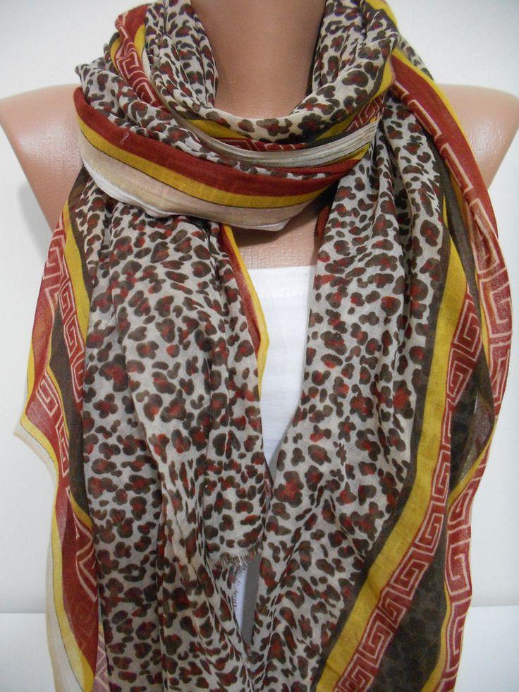 ScarfCluB Leopard scarf shawl Animal print scarf Cowl scarf www.scarfclub.net