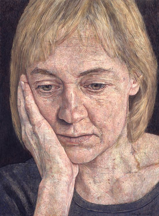 Caroline I, 2000 egg tempera by Antony Williams