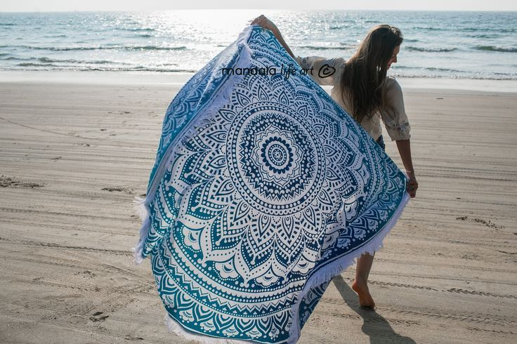 Unique collection of home and beach decor , Floor Cushion Cover , Hippie tapestries , bohemian  roundies , mandala curtains , woven bath towels  and round beach towels.  #bohemian #boho #hippie #beach #summer #vibes #mandala #psycodelic $trippe #gypsy