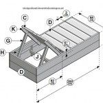 Doe het zelf tuinbed bouwtekening voor een tuin ligbed van steigerhout.