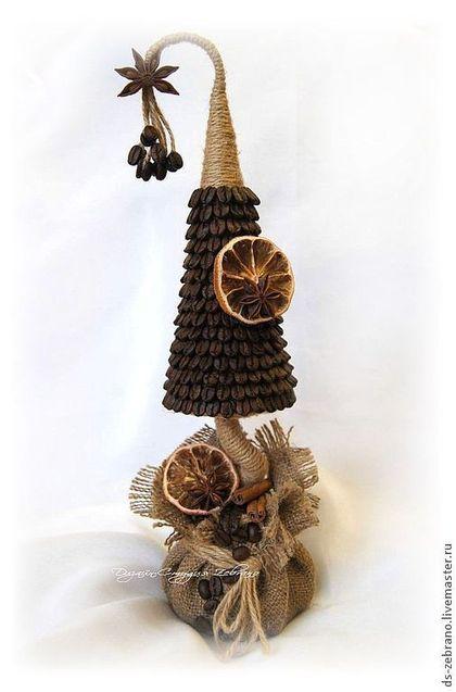 Новый год 2015 ручной работы. Ярмарка Мастеров - ручная работа Ароматнейшая кофейная елочка. Дерево счастья.. Handmade.