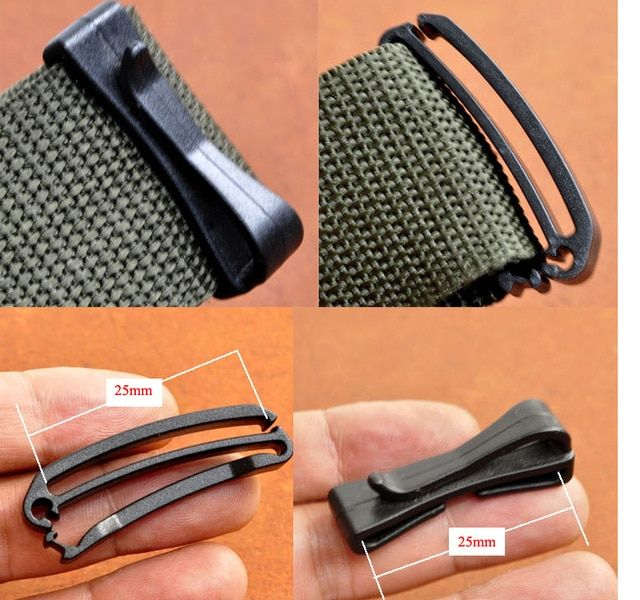 5x 25mm 38mm 50mm Attach Molle Webbing Buckle Strap Belt End Clip Adjust Keeper Tactical Backpack Bag Camp Hike Out Backpack Bags Camping Bag Tactical Backpack