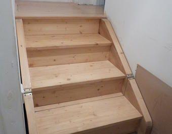 Les 25 meilleures id es de la cat gorie escalier escamotable sur pinterest - Pose d un escalier escamotable ...