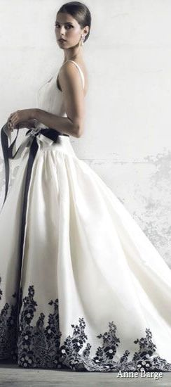 White Gorgeous And By Black Gown BargeHtVestidos Anbe 1cTFJKl
