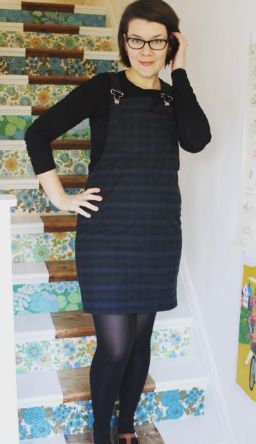 Tif's Cleo dungaree dress - sewing pattern by Tilly and the Buttons