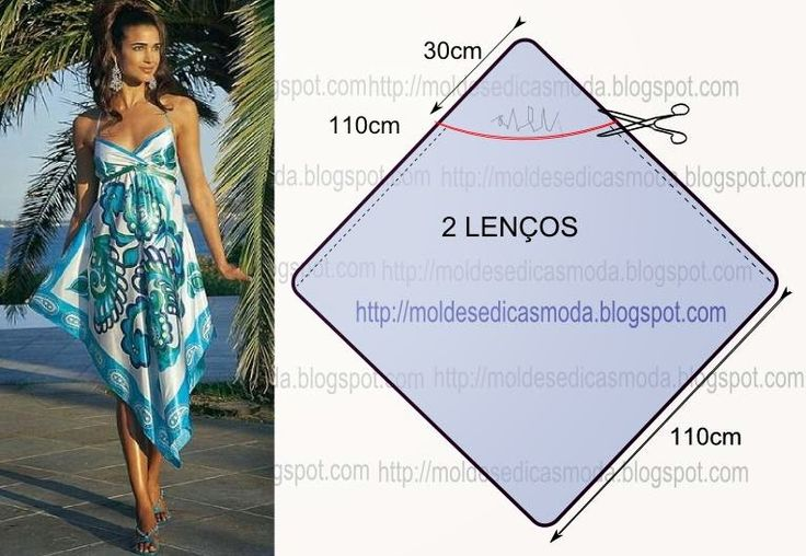 Moldes Moda por Medida: VESTIDO DE LENÇOS - 1