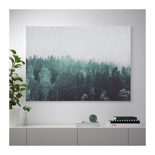 BjÖrksta Picture And Frame Treetops Aluminum Color 55x39 ¼