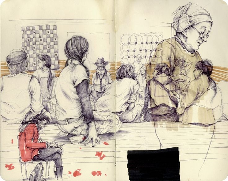 By Pat Perry, Sketchbook work.