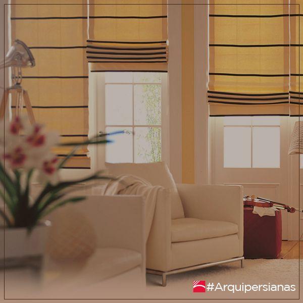 Una #PersianaRomana se ha puesto de moda en la decoración del hogar, y en los últimos años aproximadamente se ve más en los departamentos porque no recargan los ambientes y no ocupan mucho espacio. #ArquiPersianas #DecoraTuEspacio