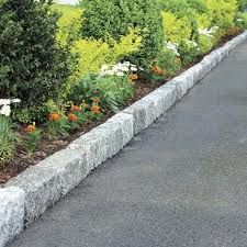 Garden edging: belgium block is perfect for keeping mulch in a garden bed along a driveway or walk.