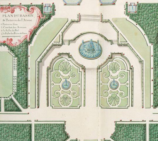 Plan du bassin et des parterres de latone les architectes for Architecte jardin versailles