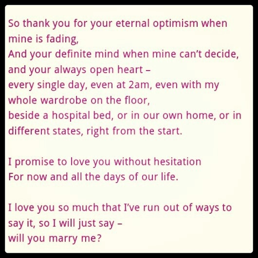 This Is Part Of My Non Traditional Wedding Vows To Husband I Had