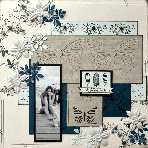 Créations pour Version scrap avec les nouveautés Florilèges Design-Cathy