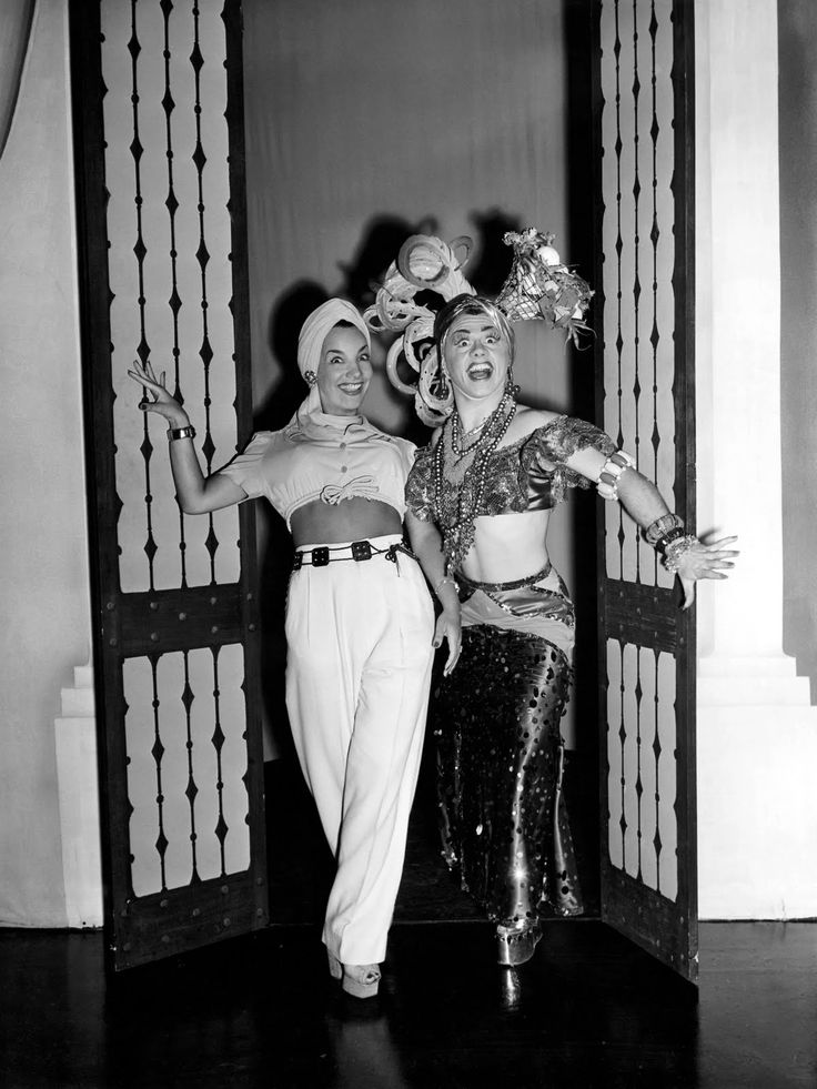 "Carmen Miranda and Mickey Rooney in the movie ""Babes On Broadway"""