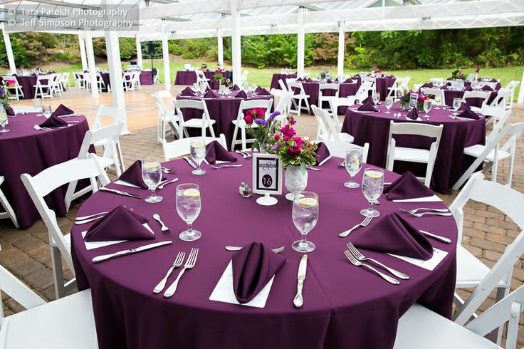 eggplant table setting our wedding pinterest tables napkins and table settings. Black Bedroom Furniture Sets. Home Design Ideas