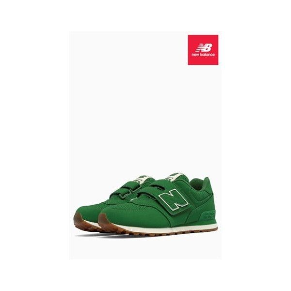 New Balance 574 Velcro Trainer ($23) ❤ liked on Polyvore featuring shoes, sneakers, new balance, velcro shoes, new balance trainers, new balance shoes and new balance sneakers