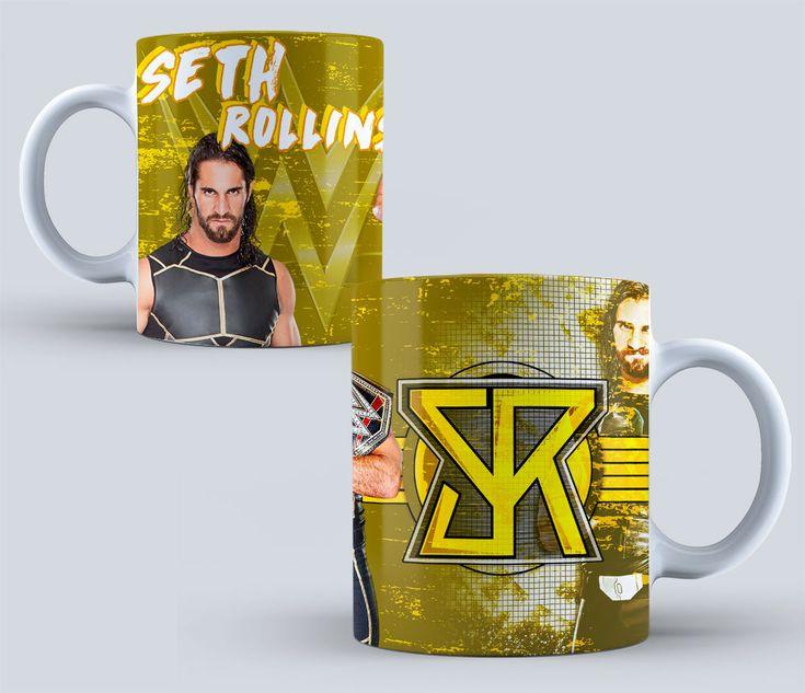 sublimation designs para Mugs LUCHA Libre WWE para SUBLIMAR