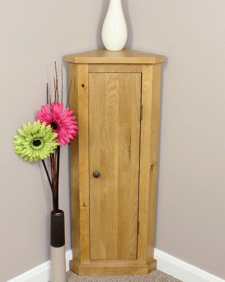 Details About Solid Oak Corner Telephone Cabinet Storage Unit Plant Stand 100 Units