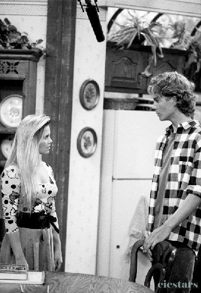 Nicole Eggert and Paul Walker in CHARLES IN CHARGE