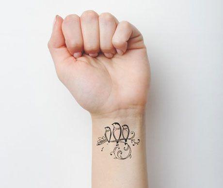 A tattoo where each bird represents a child #momink #tattooinspiration