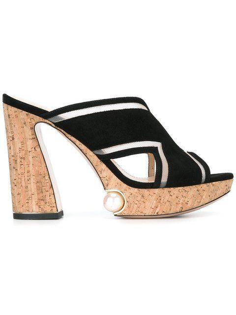 NICHOLAS KIRKWOOD 105mm 'Estella' pearl platform mules. #nicholaskirkwood #shoes #sandals