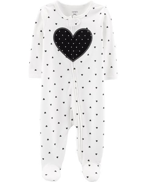 f38ffcfbdb8a Heart Zip-Up Cotton Sleep & Play | Baby 2019 | Carters baby girl ...