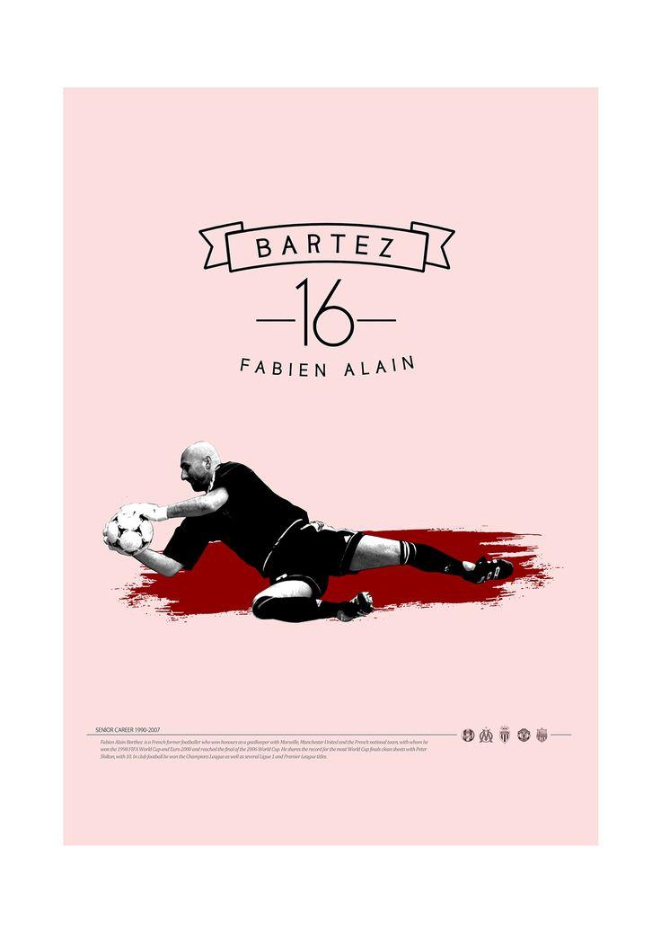 Soccer Legends Poster on Behance : Fabien A. Bartez
