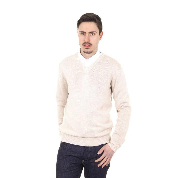 Beige XL Versace 19.69 Abbigliamento Sportivo Milano mens V neck sweater 9803 SCOLLO V SABBIA