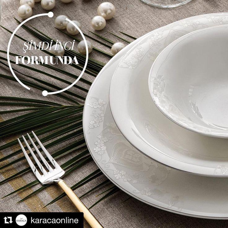 Karaca'nın yeni inci formu; #FinePearl Bella Yemek Takımı! Sevgiyi anlatmanın en güzel yolu papatyalar; Bella ile sofralarınızda yerini alacak. #Sofranınİncisi #nilgoksunkilic #patterndesign